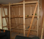 Bunk and desk frame up